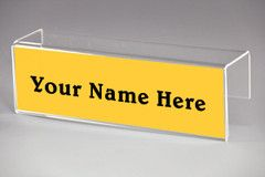 cubicle name plate holders single sided name plate holders in