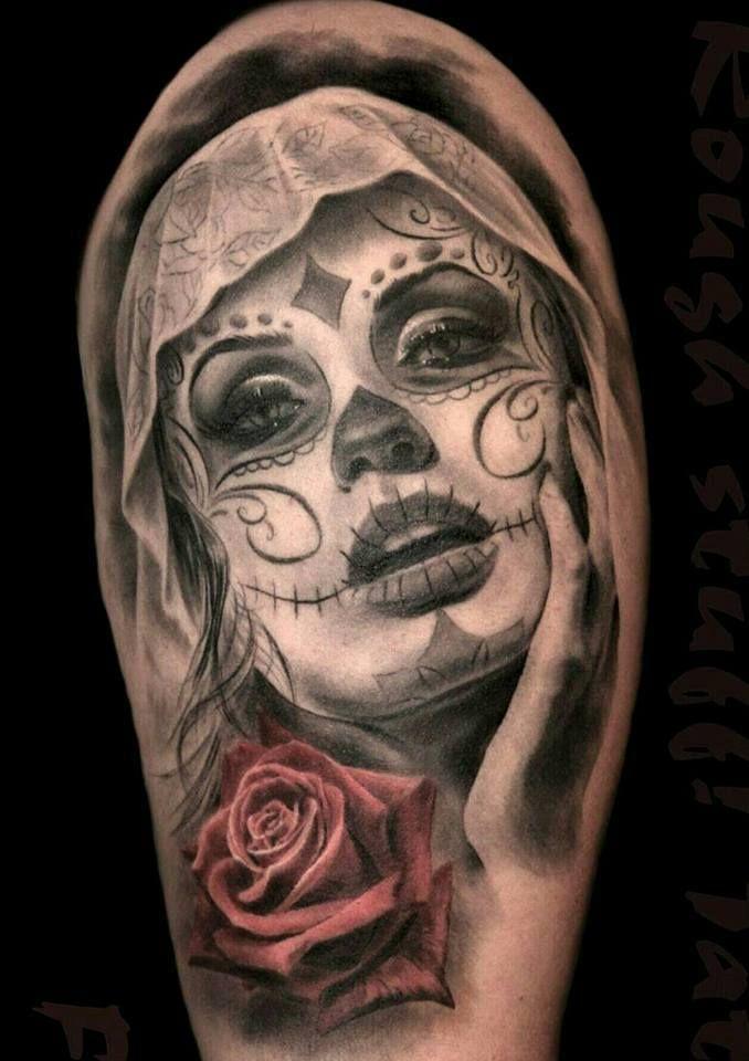Pin by kostya on pinterest tattoo tatoo and tatting - Santa muerte tatouage signification ...