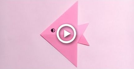 Photo of origami fish easy for kids