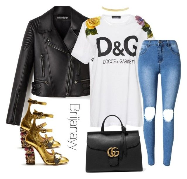 """""""02/13"""" by briijanayy on Polyvore featuring Dolce&Gabbana, Gucci and Lana"""