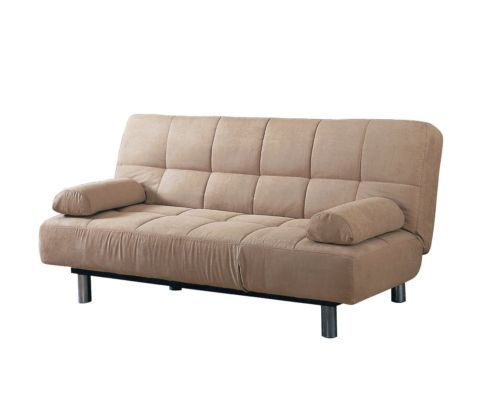 Futon Sleeper Sofa Bed Vinyl Leather Finish Futon Sofa Bed