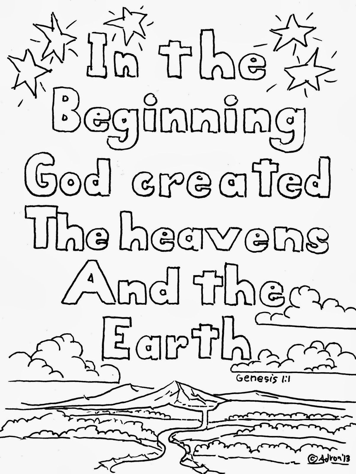 Free printable coloring pages gods creation - To Find More Kids Print And Color Pages Like This Click On The Label Awana