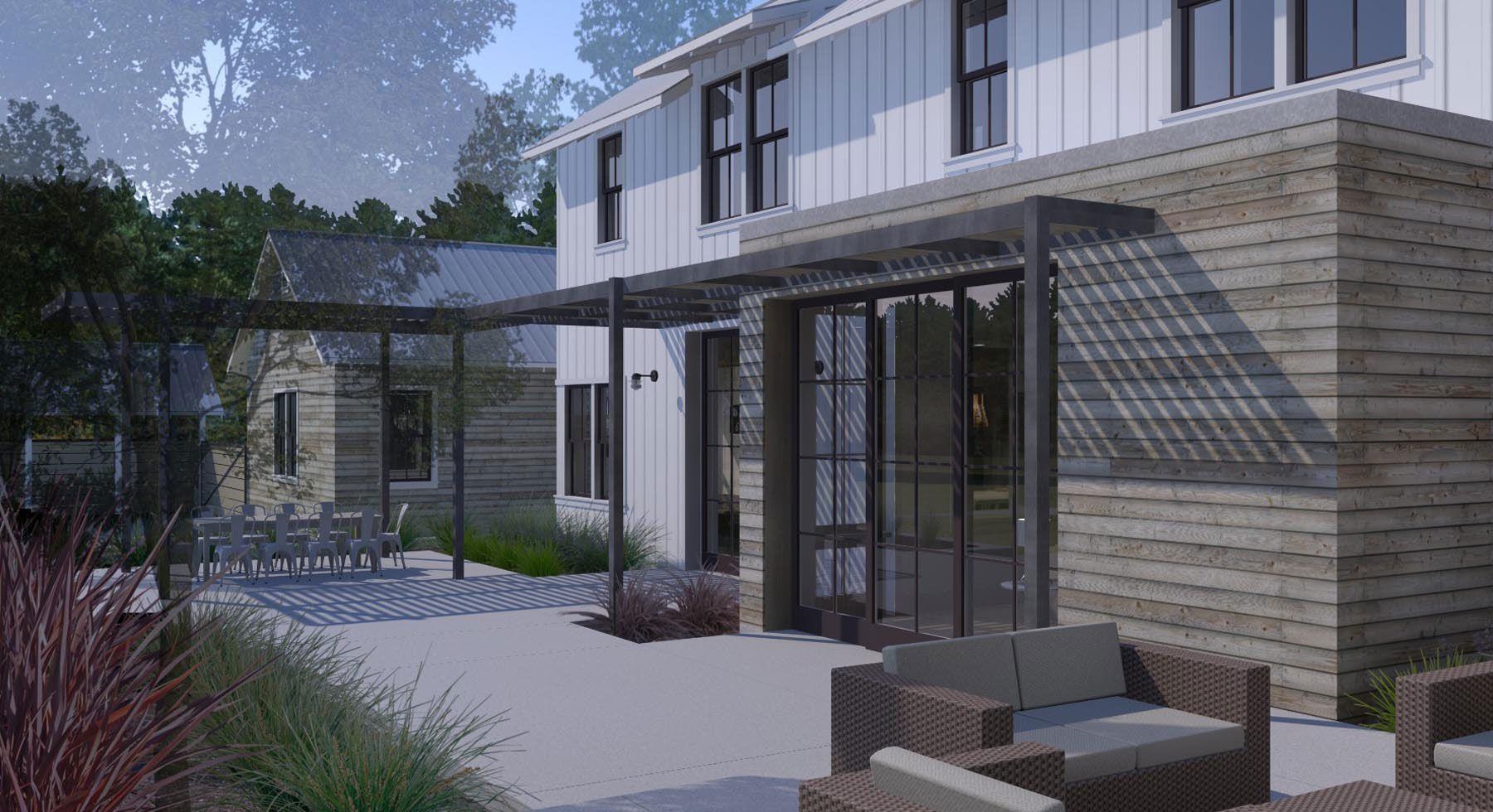 Custom Modern Home Construction, Napa-Style Modern, Woodside CA ...