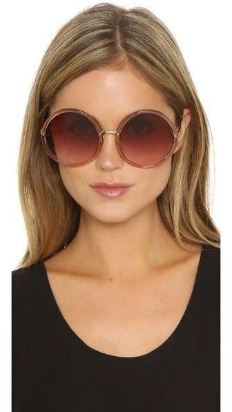 f5a795060ae9a Linda Farrow Luxe Round Oversized Sunglasses
