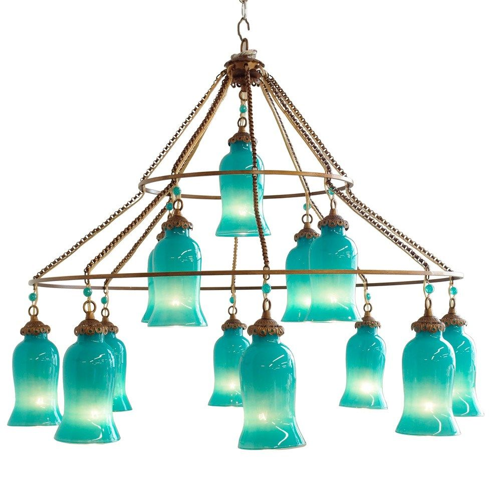 Canopy Designs Sara Aruba Blue Chandelier Glass Chandelier Canopy Design Blue Chandelier