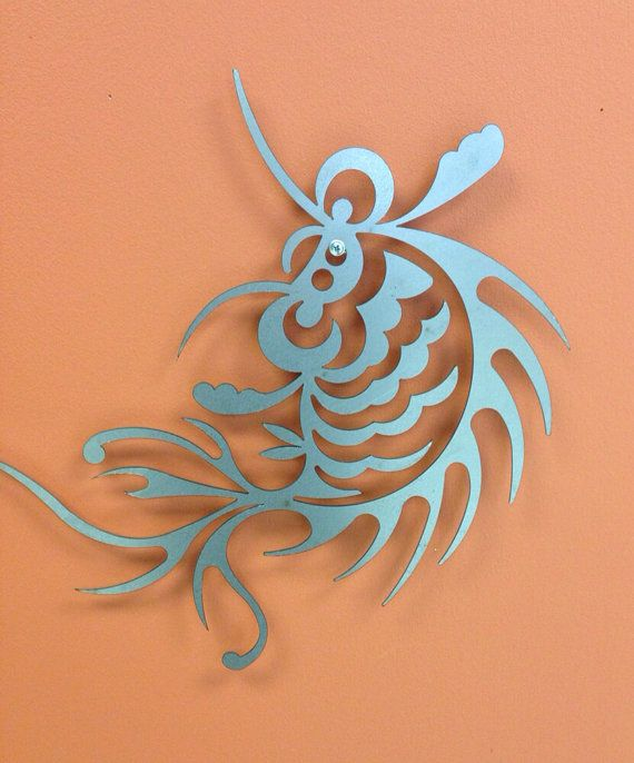 Japanese Koi Fish Metal Wall Art Silver or Caramel Copper ...