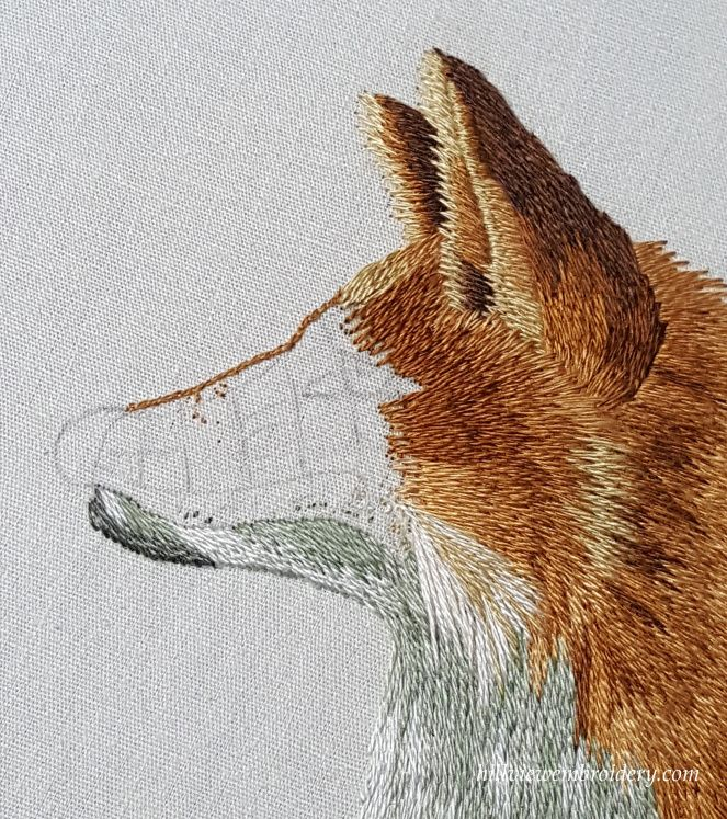 The Red Fox - working his chin | bordados | Pinterest | Bordado ...