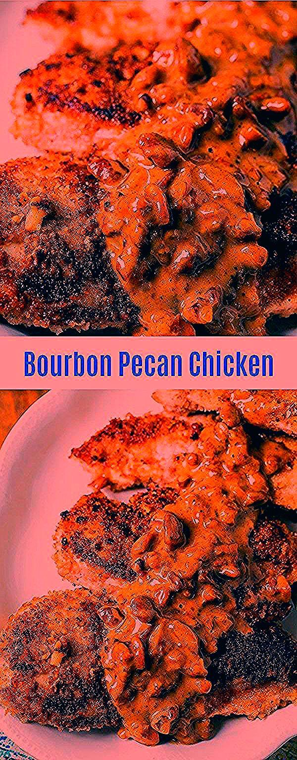 Chicken breasts are coated in a pecan breading, and fried in a skillet. Then a rich bourbon sauce is poured over them before serving. This is a fabulous recipe that my Mother gave me from a upscale restaurant in New York. It is to die f new york cheesecake recipes graham crackers | new york cheesecake recipes easy | new york cheesecake recipes keto | new york cheesecake recipes copycat | original new york cheesecake recipes #meat #poultry #chicken #chickenbreasts #pan-fried #newyorkcheesecake