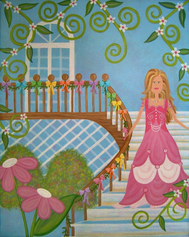 Whimsical Princess And The Pea Wall Decor Of Ball Fairytale