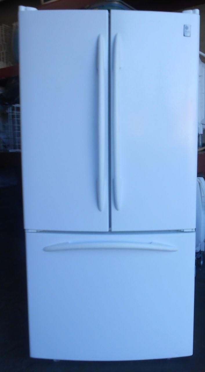 Appliance City Ge Profile White Refrigerator French Door Bottom