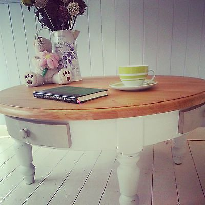 Beautiful Large Bespoke Farmhouse Shabby Chic Coffee Table with 4 ...
