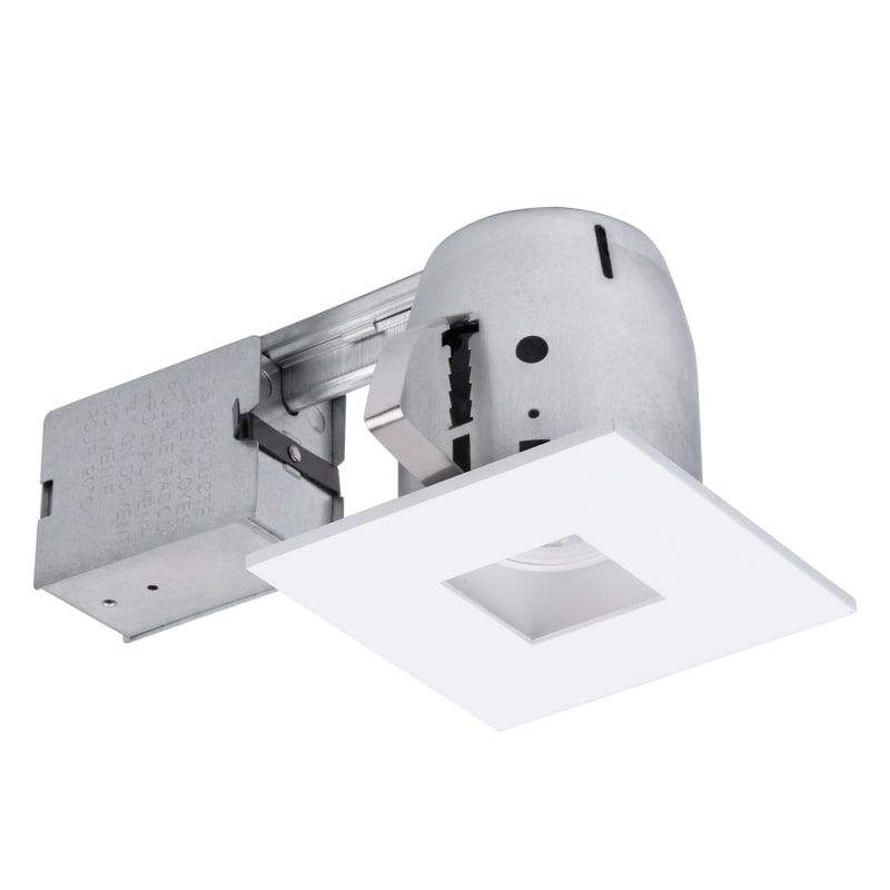 Globe Electric 90738 4 Gu10 Adjustable Square Recessed Trim And Remodel Housing White Recessed Lights Trim And Housing Package Led In 2020 Bathroom Recessed Lighting Recessed Lighting Kits Bathroom Fixtures