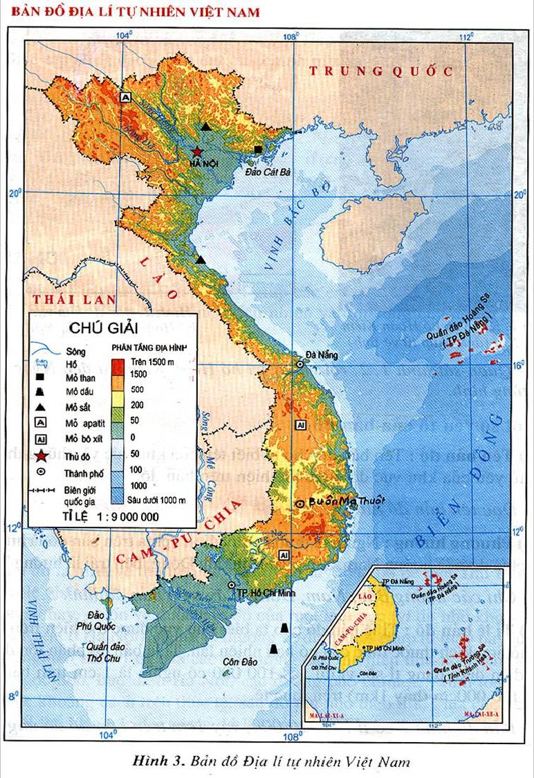 Vietnam map general physical features of vietnam pinterest vietnam map gumiabroncs Gallery