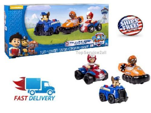 Nickelodeon Paw Patrol   Rescue Racers 3pk Vehicle Set Chase Zuma Ryder