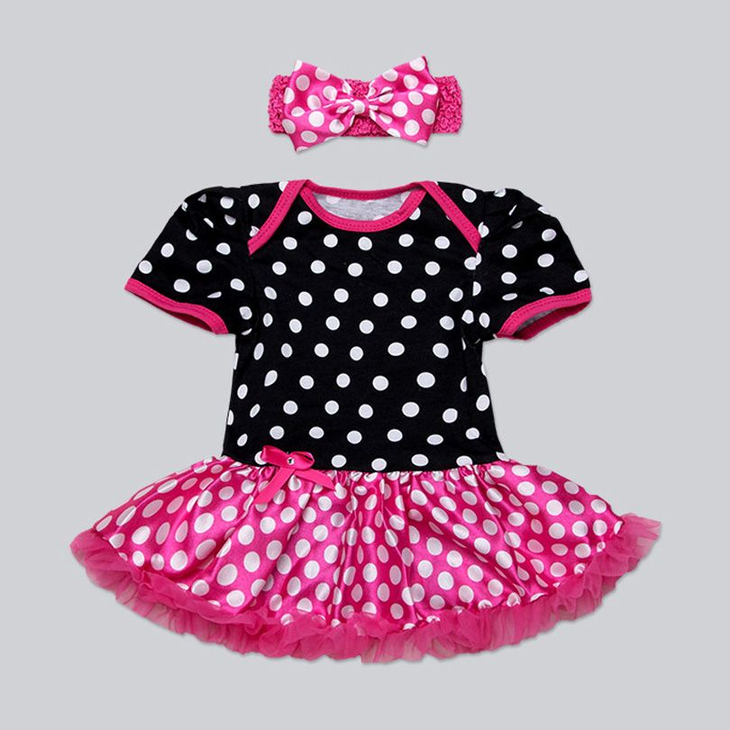 >> Click to Buy << 2017 Spring Summer Baby Infant Newborn Birthday Minnie Mouse DOT Romper Skirt and Headband 2pcs Children Clothes Kid Party 0-24M #Affiliate