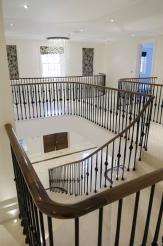 Best Elliptical Black Walnut Handrail Staircase Remodel 400 x 300
