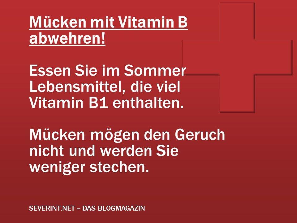 Tipp Mucken Mit Vitamin B1 Abwehren Gesundheit Pinterest
