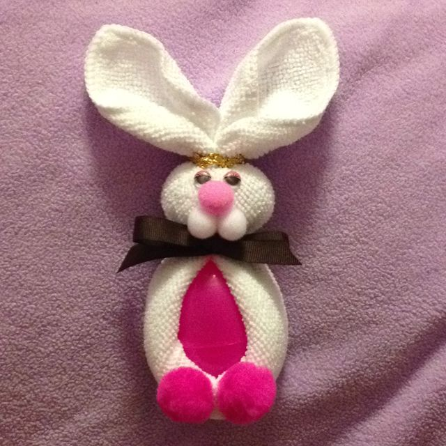 Washcloth Bunnies: Washcloth Easter Bunnies! This Is Very Similar To The Boo