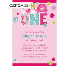 Pin by angie hall moore on corinnes 1st birthday party one wild girl custom invitation party city stopboris Gallery