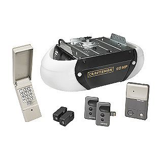 Craftsman Garage Door Opener 1 2 Hp Chain Drive 2 Security 3 Function Remote Control Garage Door Opener Installation Garage Door Opener Remote Garage Doors