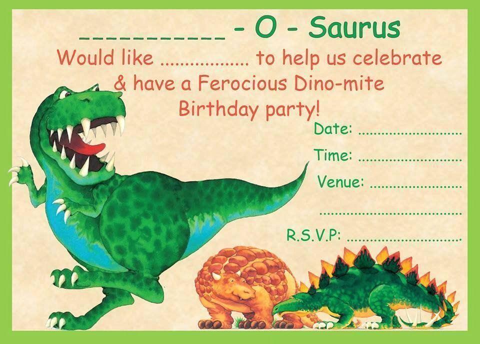 Dinosaur Birthday Party Invitation Template New Boys Dinosaur Theme Bir Dinosaur Birthday Party Invitations Dinosaur Birthday Invitations Party Invite Template