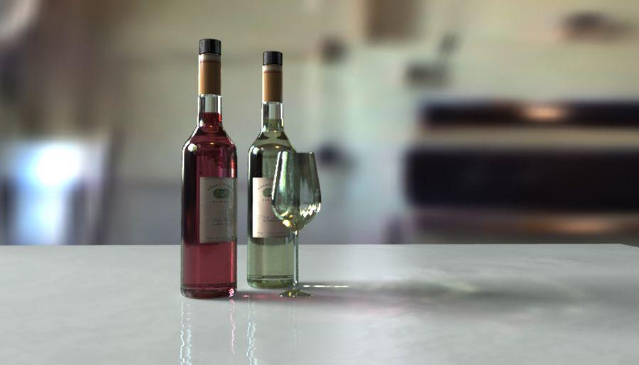 Oggetti 3D - Bottiglie e bicchiere