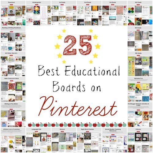 25 Best Educational Boards on Pinterest