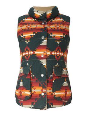 Denim and Supply Ralph Lauren Aztec print gilet Multi-Coloured - House of Fraser