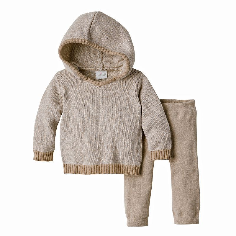Baby Boy Cuddl Duds Hooded Sweater & Pants Set, Size: 18 Months, Grey Other