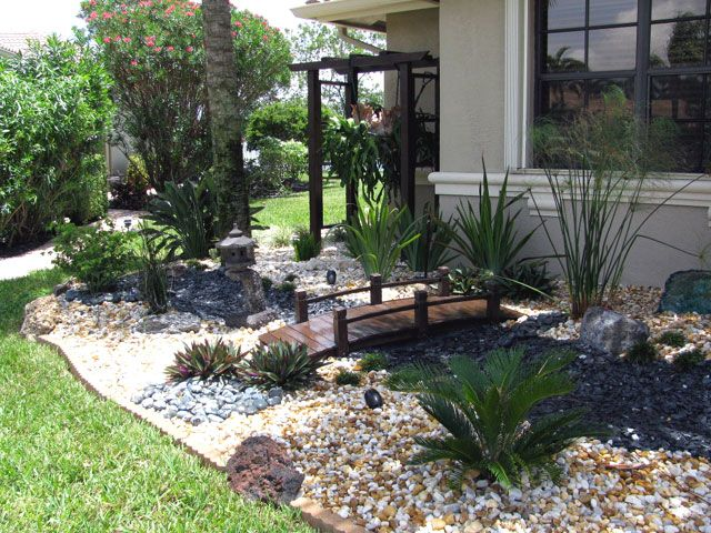 Beach inspired front entry gardens bing images front for Japanese garden small yard