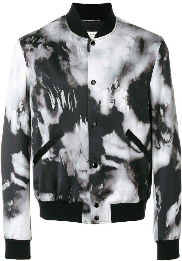 4b06aa749 Saint Laurent tie dye print bomber jacket | Products | Printed ...