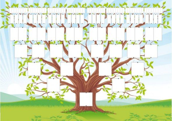 Free Family Tree Template Genealogy Arbre Généalogique