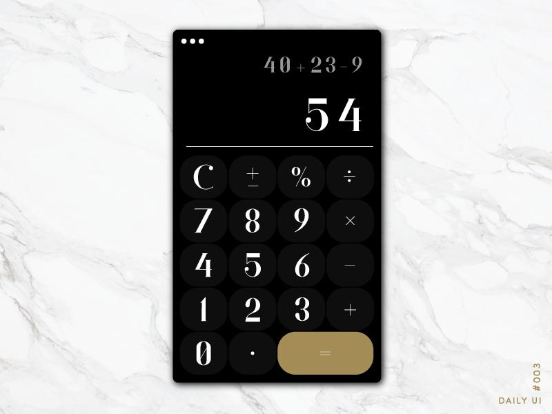 Daily UI #004 - Calculator by Amanda