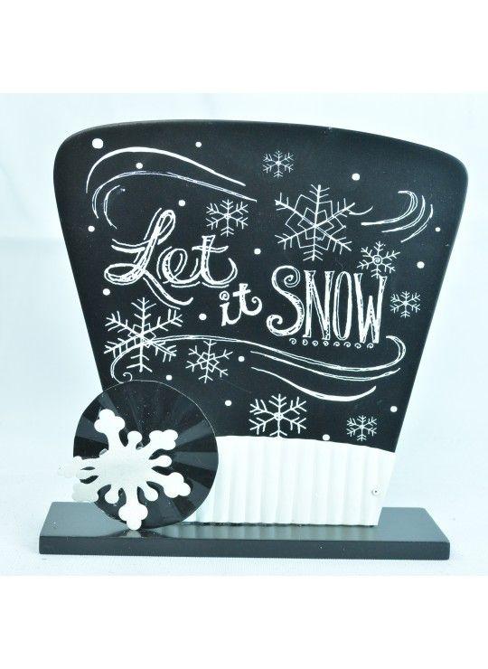 "8"" WOOD SNOWMAN HAT"
