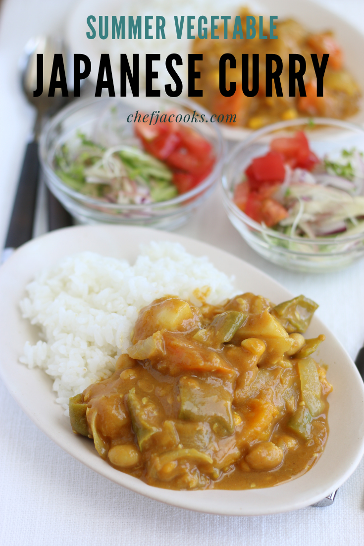 Japanese Summer Vegetable Plant Based Curry Rice Chef Ja Cooks Recipe Vegetable Curry Recipes Vegetable Curry Japanese Vegetable Curry Recipe