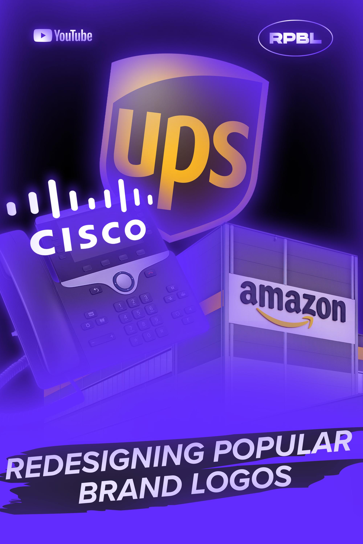 Redesigning Popular Brand Logos Episode 1 In 2020 Brand Logo Ups Popular