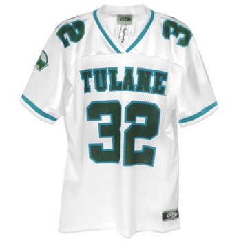 new styles de886 7492b Tulane Green Wave Replica Football Away Jersey #32   My ...