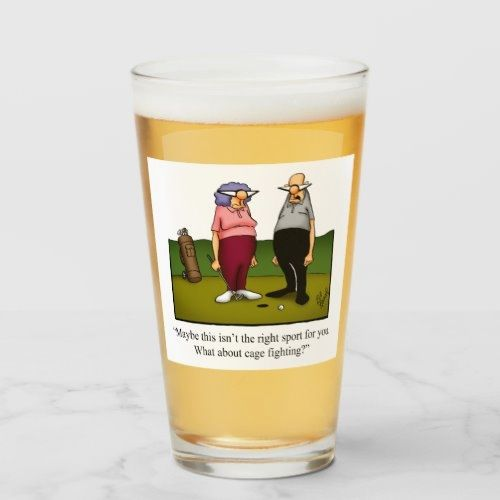 Funny Golf Humor Beer Glass