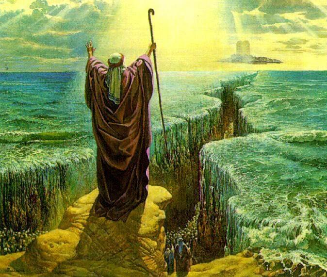 moisés abrindo o mar vermelho bíblia e israel pinterest retro