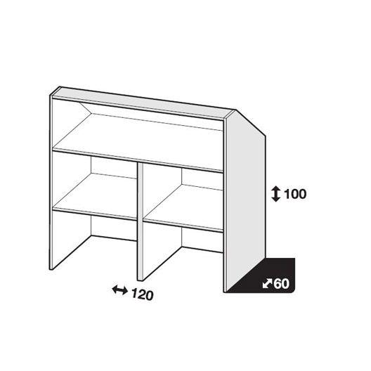 caisson sous comble blanc spaceo home x x cm chambre sous pente pinterest. Black Bedroom Furniture Sets. Home Design Ideas