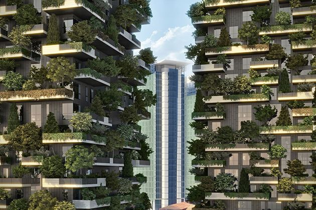 Bosco Verticale Vertical Garden Apartments In Milan Italy 3