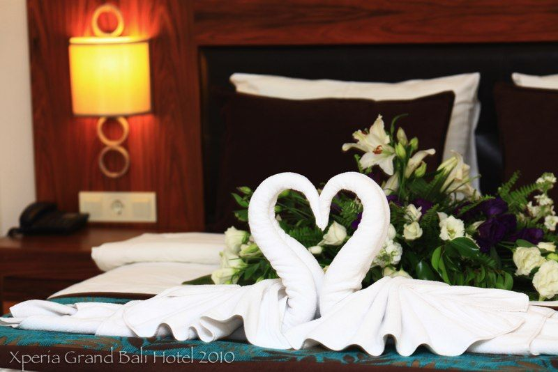 Swan Towels Alanya Towel Origami Bed Pillows Table Decorations