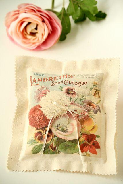 Garden Ring Bearer Pillow by Little Wee Shop - For outdoor garden wedding