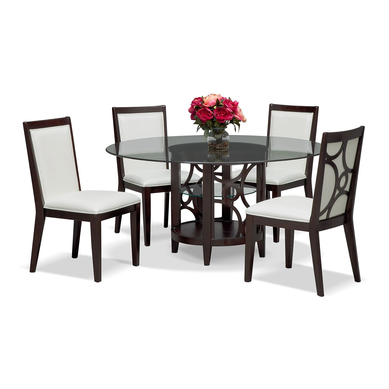 "Dining Room Furniture  Luna Pearl Ii 5 Pcdinette 60"" Table Gorgeous City Furniture Dining Room Inspiration Design"
