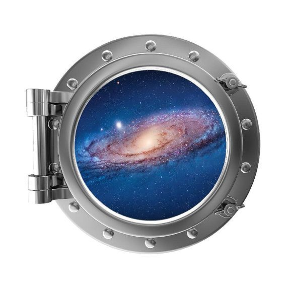12 Quot Portscape Instant Space Porthole Window Milky Way