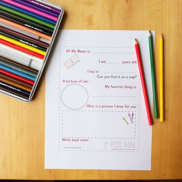 Free Kids Pen Pal LetterWriting Template Perfect For