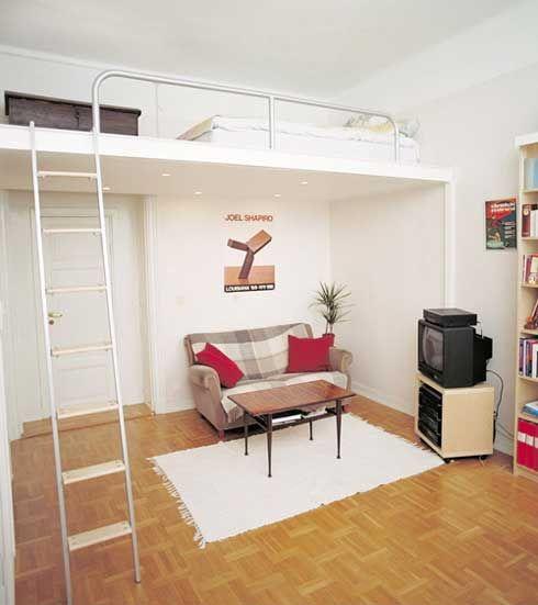 Entresol vloer - Small apartment | Pinterest