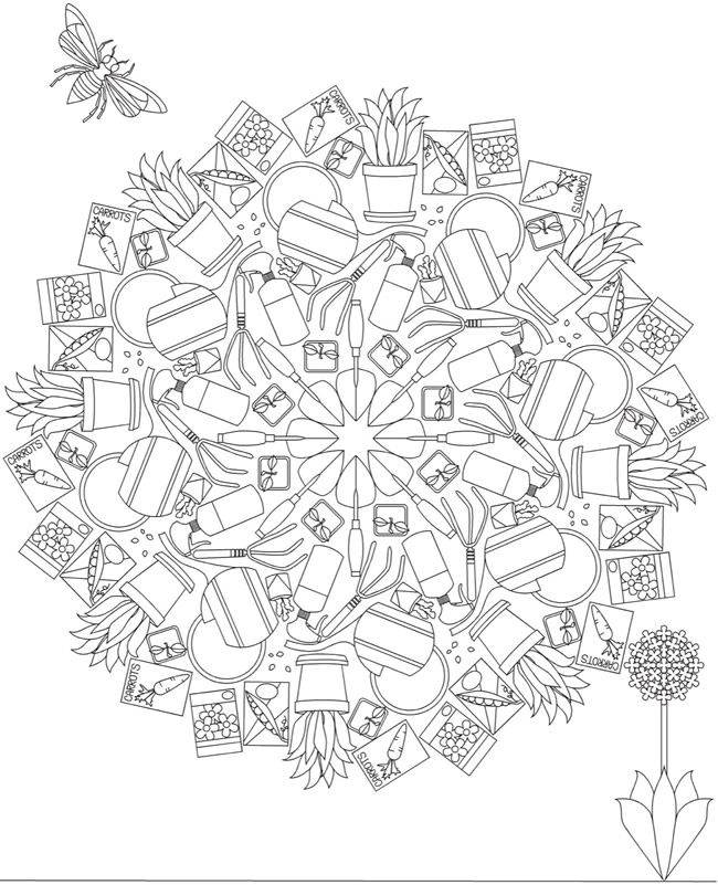 whimsical flower coloring pages - photo#37