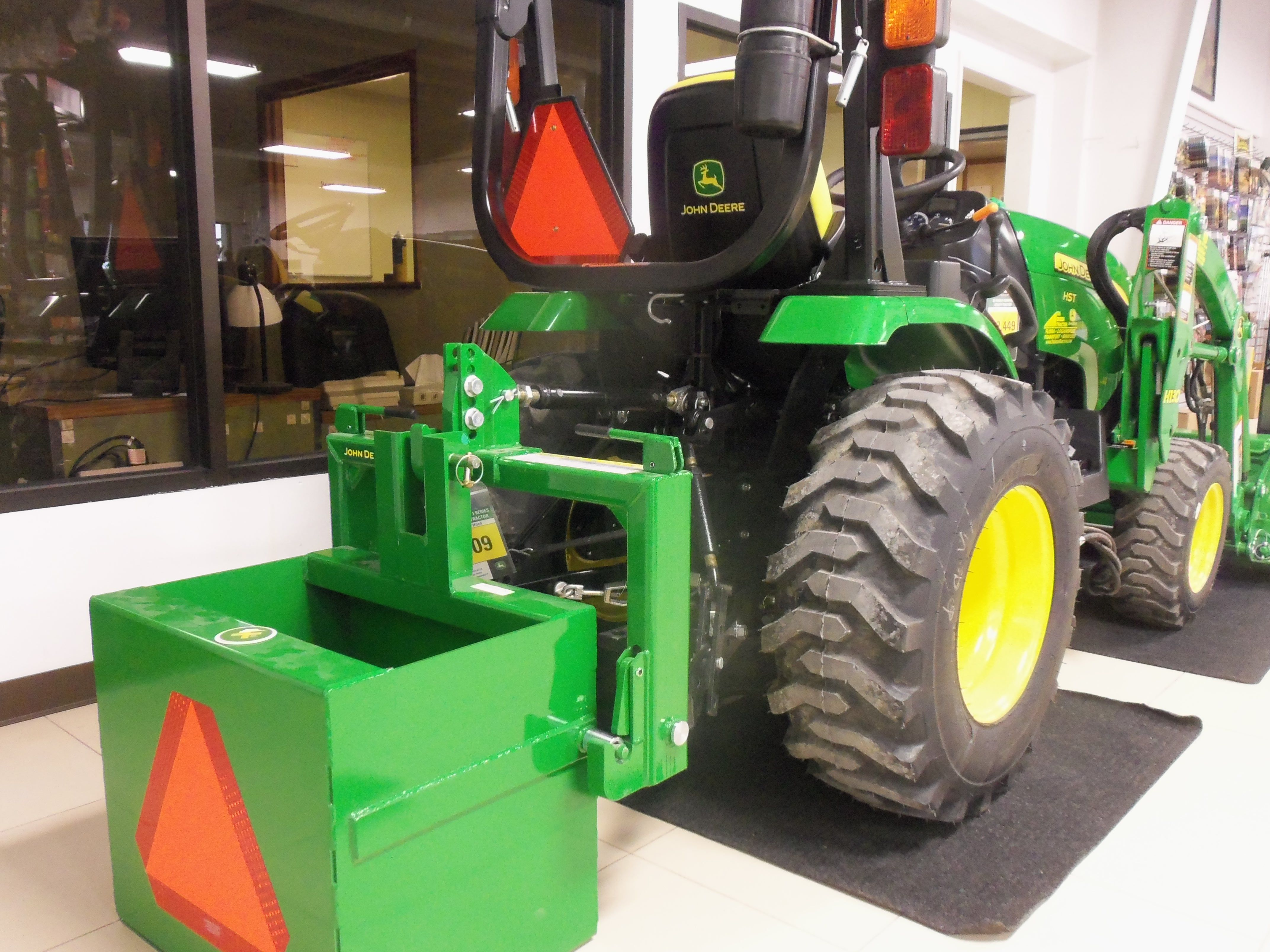 dd5fb0a6d553 Rear of John Deere 2025R tractor with weight box | Tri Green Tractor ...