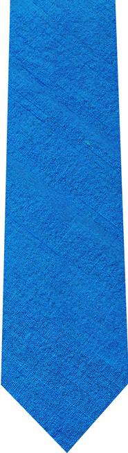 Ocean Blue Thai Rough Silk Tie #5